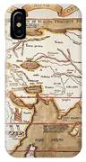 Waldseemuller: World Map IPhone Case