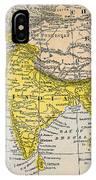 Asia Map, 19th Century IPhone Case