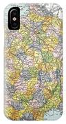 Map Of France, C1900 IPhone Case