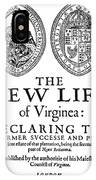 Virginia Tract, 1612 IPhone Case
