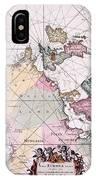 Map: European Coasts, 1715 IPhone Case