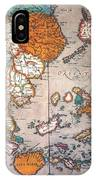 Pacific Ocean/asia, 1595 IPhone Case