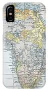 Map: Africa, 19th Century IPhone Case