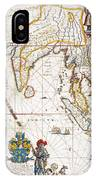 South Asia Map, 1662 IPhone Case
