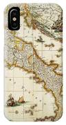 Map Of Italy, 1631 IPhone Case