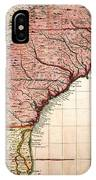 Colonial America Map, 1733 IPhone Case