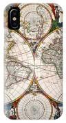 World Map, 17th Century IPhone Case
