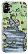 New England Map 1677 IPhone Case