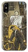 Benito Mussolini Cartoon IPhone Case