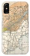 Map: Eastern Canada IPhone Case