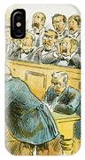 Litigation Cartoon IPhone Case