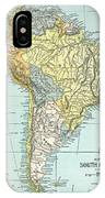 South America: Map, C1890 IPhone Case
