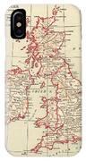 Map: British Isles, C1890 IPhone Case