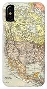 Map: North America, 1890 IPhone Case