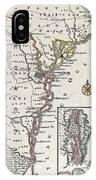 Map: North America, C1700 IPhone Case