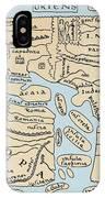 World Map 2nd Century IPhone Case