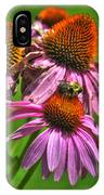 01 Bee And Echinacea IPhone Case