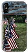 010 Flags For Fallen Soldiers Of Sep 11 IPhone Case