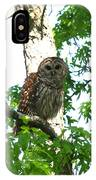 0298-001 - Barred Owl IPhone Case