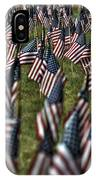 03 Flags For Fallen Soldiers Of Sep 11 IPhone Case