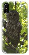 0313-010 - Barred Owl IPhone Case