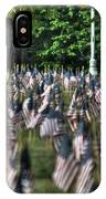 06 Flags For Fallen Soldiers Of Sep 11 IPhone Case