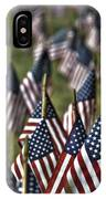 07 Flags For Fallen Soldiers Of Sep 11 IPhone Case