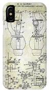 1902 Watchmakers Lathes Patent IPhone Case