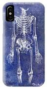 1911 Anatomical Skeleton Patent Blue IPhone Case