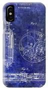 1913 Pocket Watch Patent Blue IPhone Case