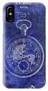 1916 Pocket Watch Patent Blueprint IPhone Case