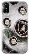 1997 Lamborghini Diablo Roadster  Wheel Emblem -1303ac IPhone Case