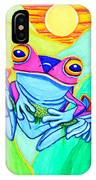 3 Little Frogs IPhone Case