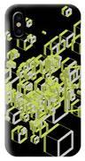 3d Futuristic Bg IIi IPhone Case