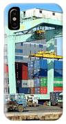 A Container Is Loaded In Kaohsiung Port IPhone Case