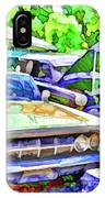 A Line Of Classic Antique Cars 3 IPhone Case