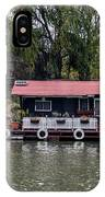 A Raft House Moored To The Shoreline Of Ada Medjica Islet IPhone Case