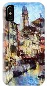 Abstract Canal Scene In Venice L A S IPhone Case