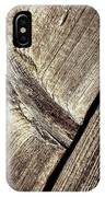 Abstract Detail Of A Wooden Old Board IPhone Case