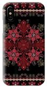 Abstract Ethnic Shawl Floral Pattern Design IPhone Case