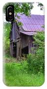 Aging Barn In Woods Series IPhone Case