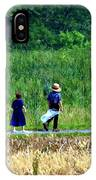 Amish Brother And Sister IPhone Case