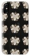 Artistic Sparkle Floral Black And White Graphic Art Very Elegant One Of A Kind Work That Will Show G IPhone Case