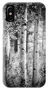Aspen Trees In Black And White IPhone Case