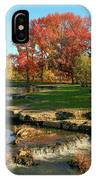 Autumn At The Deer Lake Creek Riffles In Forest Park St Louis Missouri IPhone Case