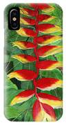 Balinese Heliconia Rostrata IPhone Case