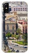 Barcelona With Tree-lined Las Ramblas IPhone Case