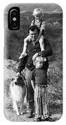 Barry Sadler With Sons And Family Collie Tucson Arizona 1971 IPhone Case