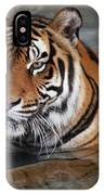 Bengal Tiger Laying In Water IPhone Case