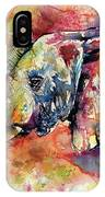 Big Colorful Elephant IPhone Case
